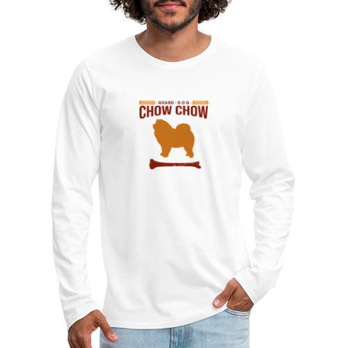 Chow chow hond design voor hondenliefhebbers - Mannen Premium shirt met lange mouwen