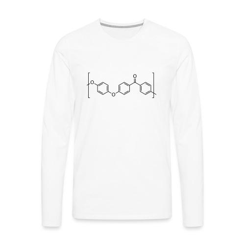 Polyetheretherketone (PEEK) molecule. - Men's Premium Longsleeve Shirt