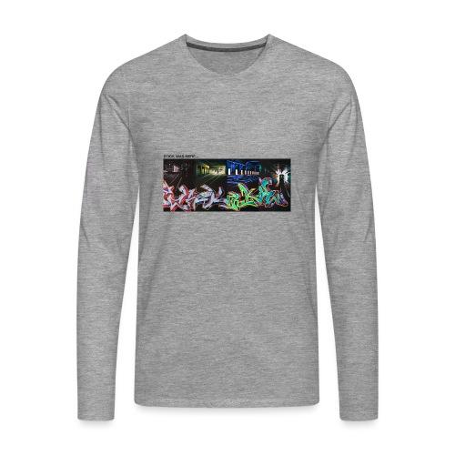 Stick Was Here 0.2 - Herre premium T-shirt med lange ærmer
