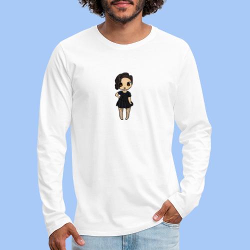 gotic waifu - Camiseta de manga larga premium hombre