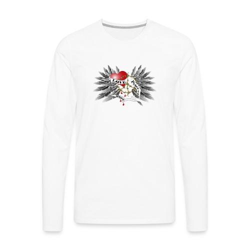 Love, Peace and Hope - Liebe, Frieden, Hoffnung - Männer Premium Langarmshirt