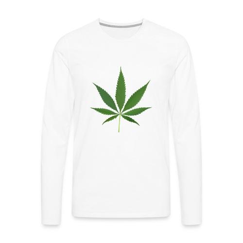 2000px-Cannabis_leaf_2 - Herre premium T-shirt med lange ærmer