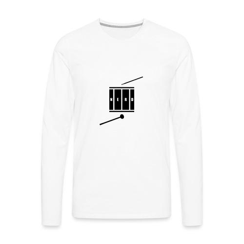 Nerd_Logo Black - Herre premium T-shirt med lange ærmer