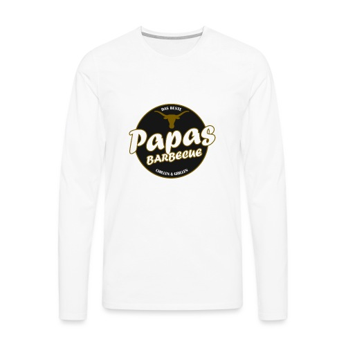 Papas Barbecue ist das Beste (Premium Shirt) - Männer Premium Langarmshirt