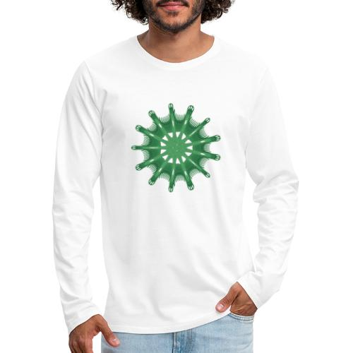 green steering wheel Green starfish 9376alg - Men's Premium Longsleeve Shirt