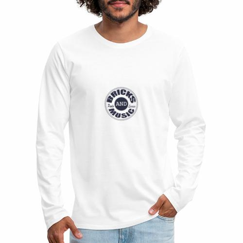 logo Bricks and Music BLUE - Maglietta Premium a manica lunga da uomo