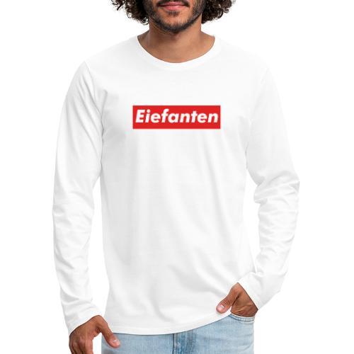 Supremium Elefant - Herre premium T-shirt med lange ærmer