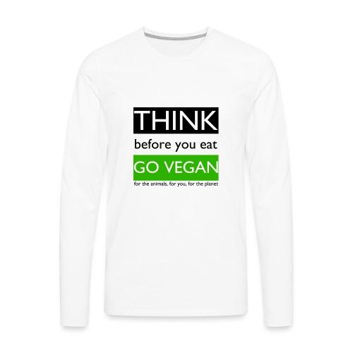 go vegan - Maglietta Premium a manica lunga da uomo