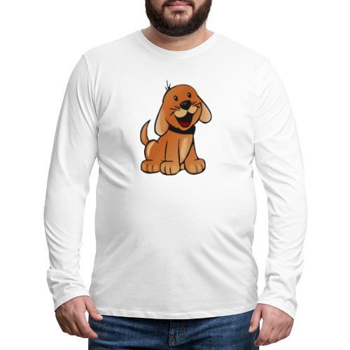 cartoon dog - Maglietta Premium a manica lunga da uomo
