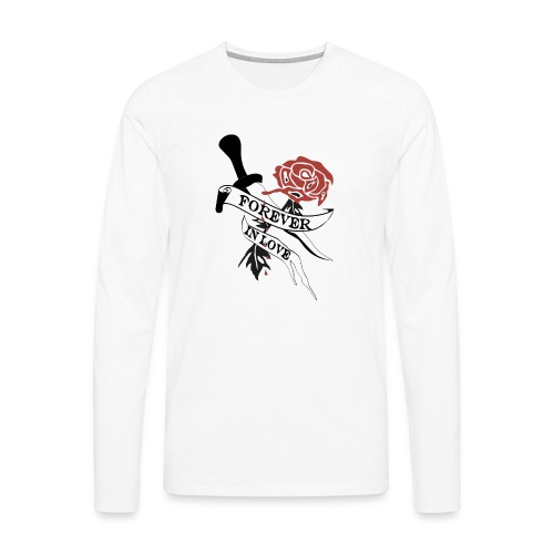 Forever in Love - Männer Premium Langarmshirt