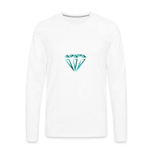 diamante - Maglietta Premium a manica lunga da uomo