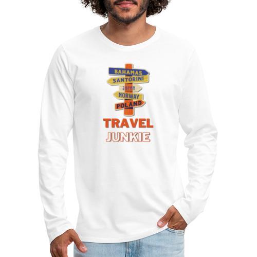 traveljunkie - i like to travel - Männer Premium Langarmshirt
