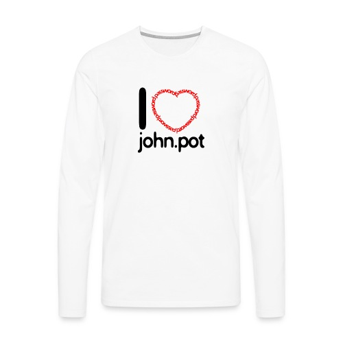 I Love John.pot - Men's Premium Longsleeve Shirt