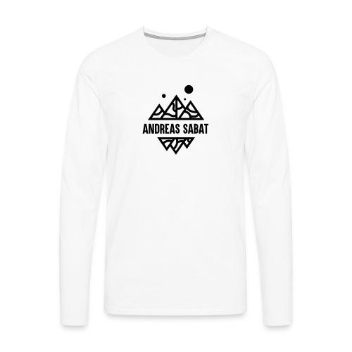 sabat logo black - Herre premium T-shirt med lange ærmer