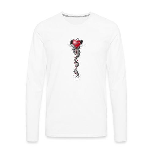 Barbwired Heart 2 - Herz in Stacheldraht - Männer Premium Langarmshirt