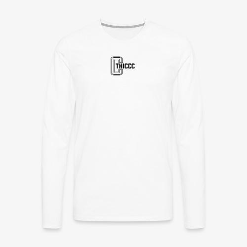 thiccc logo WHITE and BLACK - Men's Premium Longsleeve Shirt