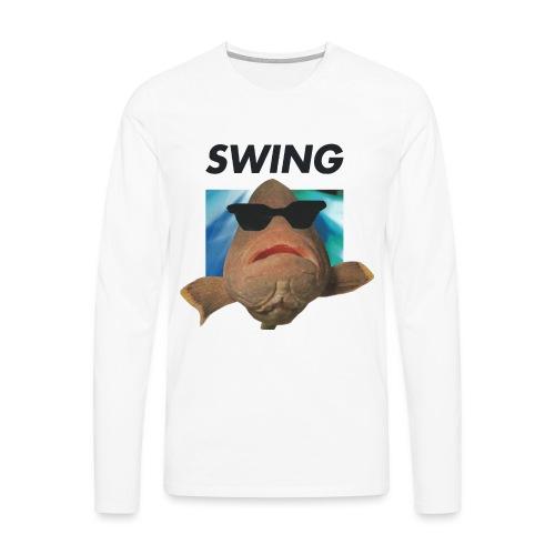 SWING fisken - Herre premium T-shirt med lange ærmer