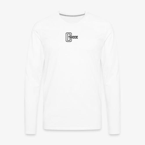 thiccc logo White - Men's Premium Longsleeve Shirt
