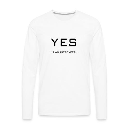 Introvert front - Mannen Premium shirt met lange mouwen