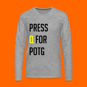 Press Q for play of the game - Men's Premium Longsleeve Shirt