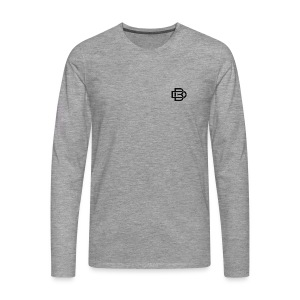 Black Monogram Logo - Men's Premium Longsleeve Shirt