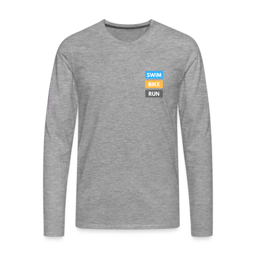 Triathlon Apparel: Swim Bike Run - Men's Premium Longsleeve Shirt