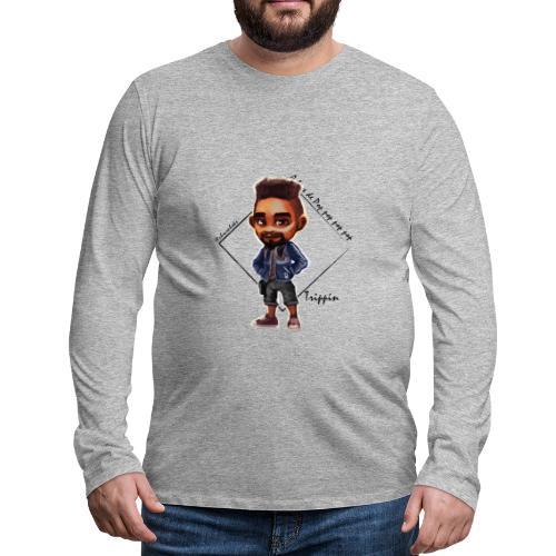 Trippin Chroniqueur A base de pop pop pop pop - T-shirt manches longues Premium Homme