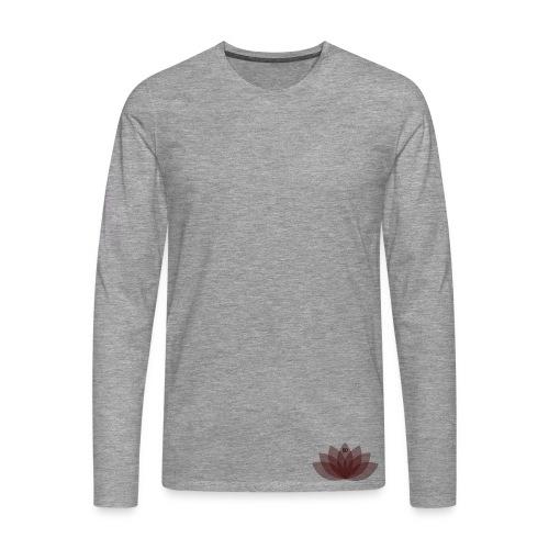 #DOEJEDING Lotus - Mannen Premium shirt met lange mouwen
