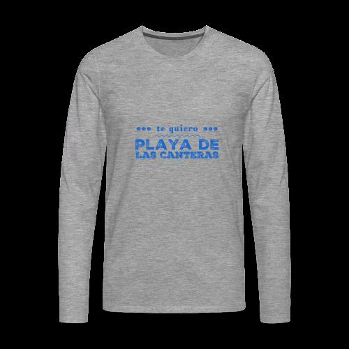 Te quiero Playa de Las Canteras - Camiseta de manga larga premium hombre