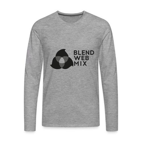 logo noir - T-shirt manches longues Premium Homme