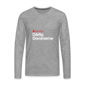 Dårligdommerne Hvid tekst - Herre premium T-shirt med lange ærmer