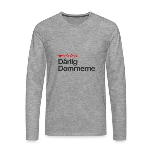 Dårligdommerne Sort tekst - Herre premium T-shirt med lange ærmer