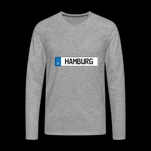 Kennzeichen Hamburg - Männer Premium Langarmshirt