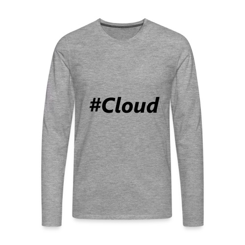 #Cloud black - Männer Premium Langarmshirt