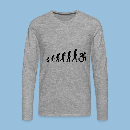 EvolutionWheelchair - Mannen Premium shirt met lange mouwen