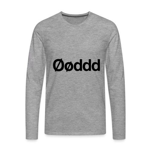 Øøddd (sort skrift) - Herre premium T-shirt med lange ærmer
