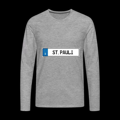 Kennzeichen St.Pauli - Männer Premium Langarmshirt