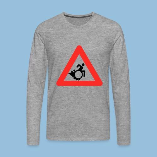 Pasopwheelchair2 - Mannen Premium shirt met lange mouwen