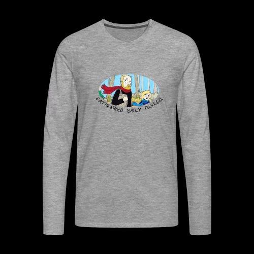 Fatherhood Badly Doodled - Men's Premium Longsleeve Shirt
