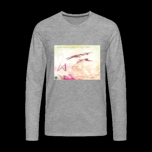Salto desde la Peña la Vieja - Camiseta de manga larga premium hombre