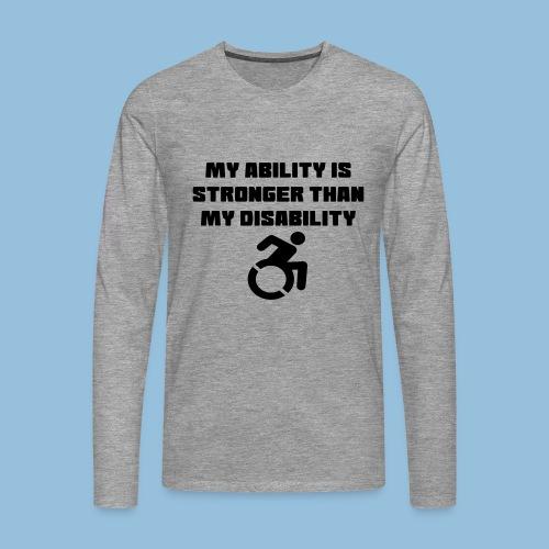 Ability2 - Mannen Premium shirt met lange mouwen