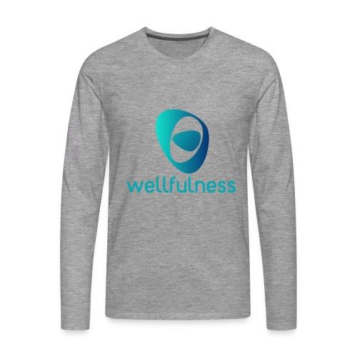 Wellfulness Original - Camiseta de manga larga premium hombre