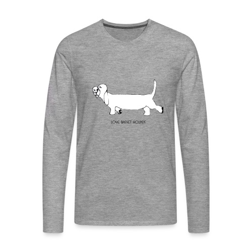 Love basset hounds - Herre premium T-shirt med lange ærmer