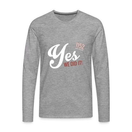 YES_1152w - Männer Premium Langarmshirt