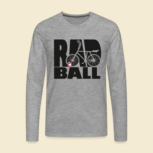 Radball | Typo Black - Männer Premium Langarmshirt