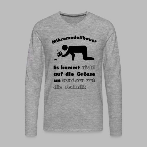 Mikromodellbau Weisheit - Männer Premium Langarmshirt