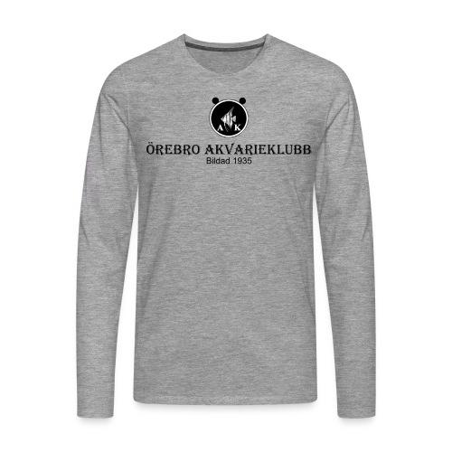 Nyloggatext1 - Långärmad premium-T-shirt herr