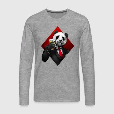 Panda Beer Cheers - Premium langermet T-skjorte for menn