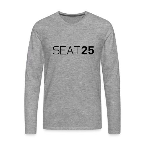 Seat25 Logo Dark - Men's Premium Longsleeve Shirt
