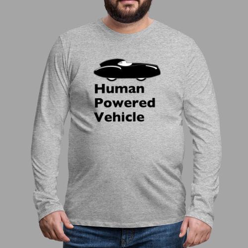 Quattrovelo Human Powered Vehicle black - Miesten premium pitkähihainen t-paita
